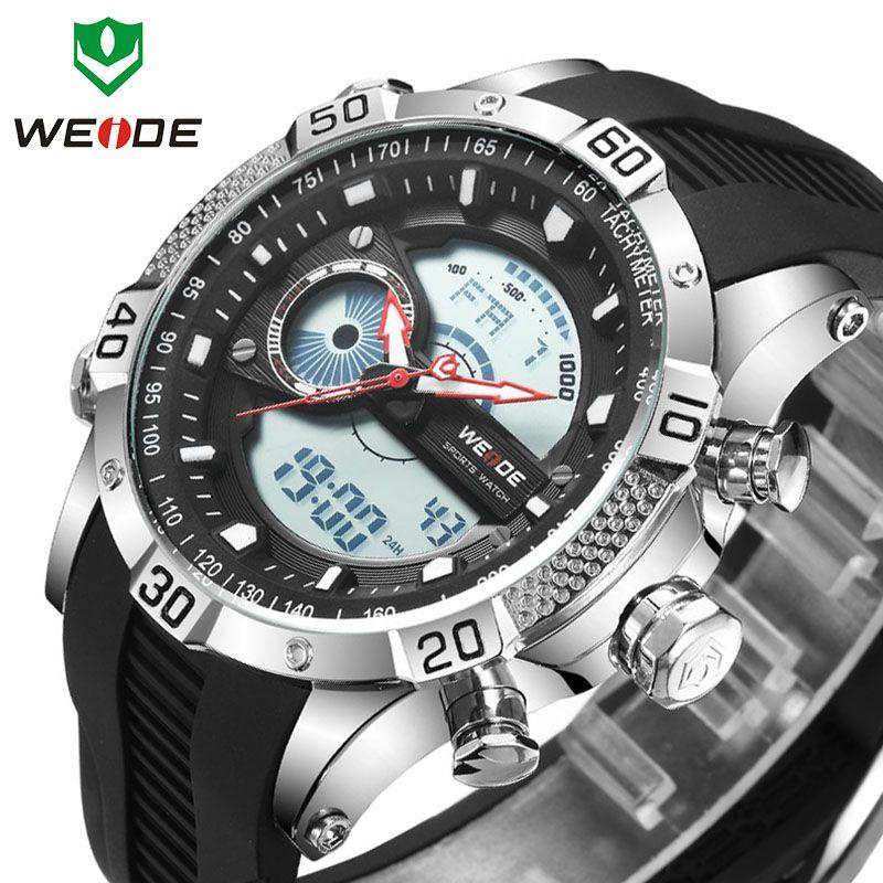 Top Luxury Brand WEIDE Sport erkek saat Silicone Man Digital Japan Movement Clock Wrist Quartz Watch Clock relogios masculino