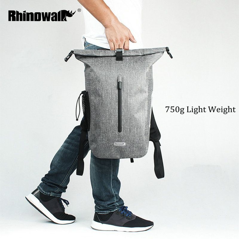 RHINOWALK 25L Full Waterproof Backpack TPU Outdoor Long Distance Cycling Backpack for Men Travel Mountain Bike Riding Rucksack