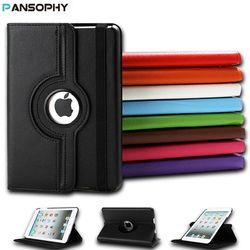 360 Degree Rotating Stand Case For iPad Mini 1 2 3 Case PU Leather Smart Flip Cover For Funda iPad Mini Case Cover Sleep/Wake