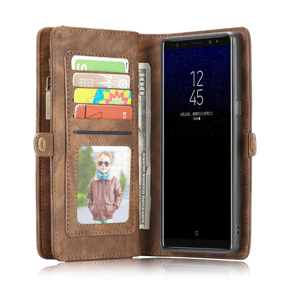 CaseMe Genuine Leather Flip Cover For Samsung Galaxy Note 8 Case Note8 Second Layer Cowhide Multifunctional Wallet Phone Cases