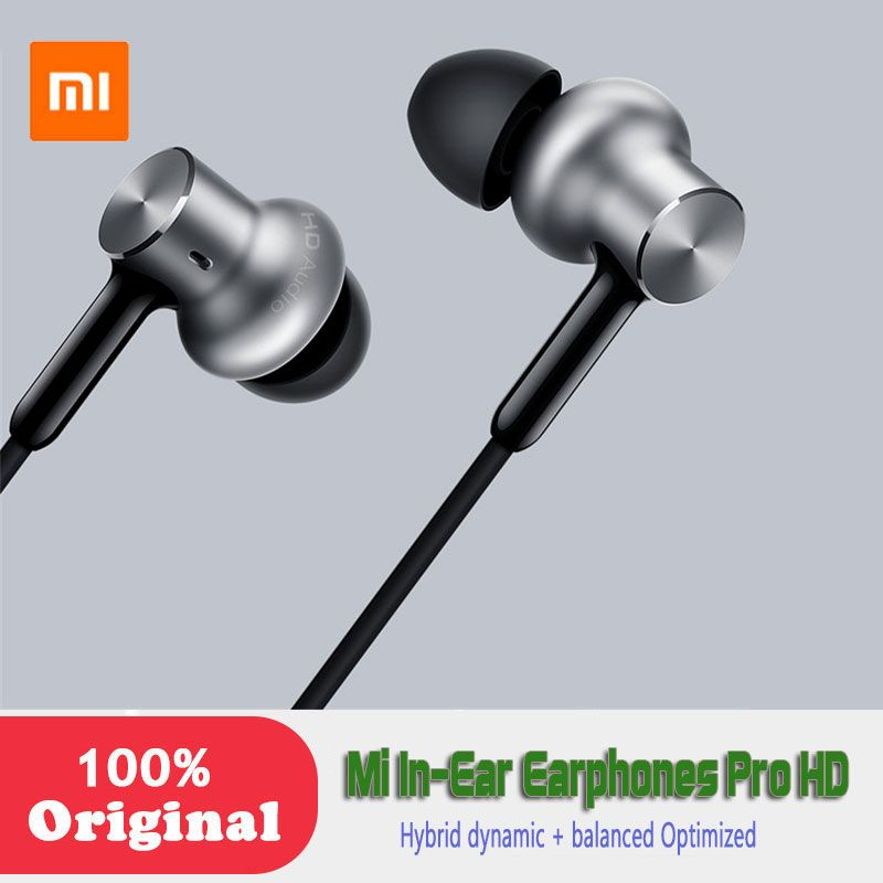 Newest Xiaomi Original In-Ear Earphones Pro HD Hybrid dynamic + <font><b>balanced</b></font> Optimized sound quality Circle Iron Dual Drivers