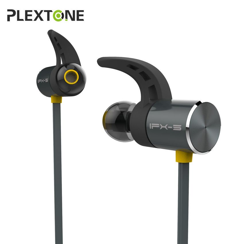 Plextone BX343 Magnetic Bluetooth Earphone IPX5 Waterproof Sport Wireless Earbuds In-ear Headset Handsfree with Mic for Phone