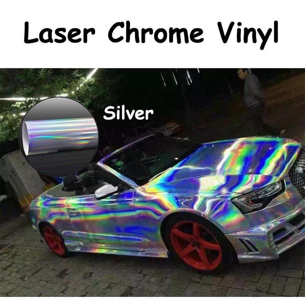 1.49x15m Hot Sale Holographic Laser Chrome Iridescent Vinyl Wrap Car Film Air Bubble Free Colorful