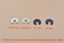 3D drucker zubehör V5 V6 heißer ende runde festen aluminium platte hot end aluminium legierung groove montieren pferdehuf CNC
