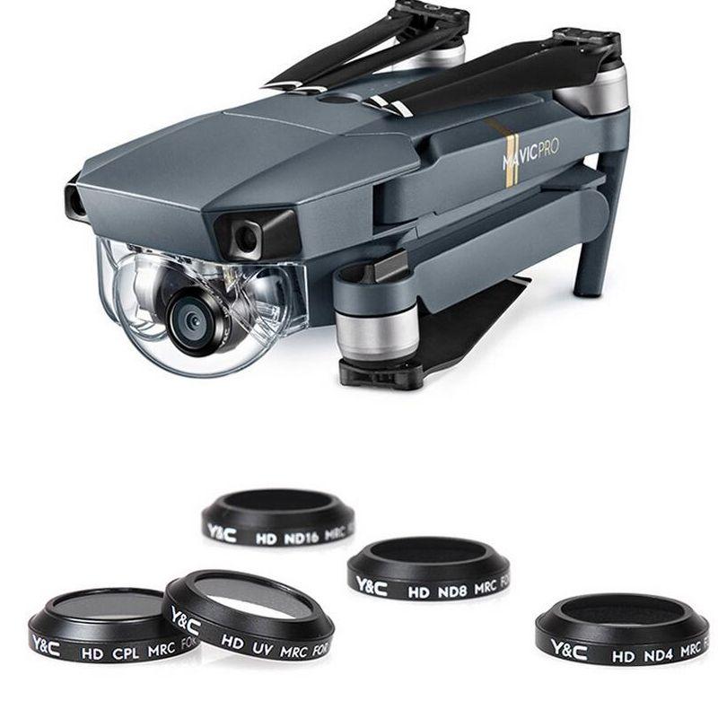 1 pcs YC Lentille Filtres UV CPL ND4 ND8 ND16 Filtre Camera Lens pour MAVIC Pro Drone