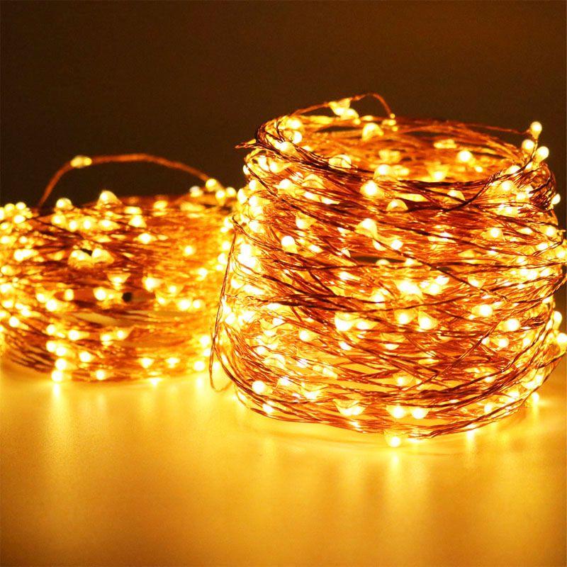 Le plus long fil de cuivre fée lumières décoration 50 M 500 LED lumières décoration chaîne vacances éclairage jardin mariage noël