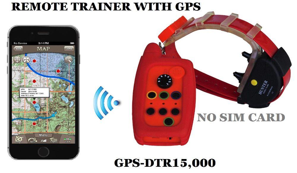 WASSERDICHTE HUNDEHALSBAND MIT GPS TRACKER PALETTE 15 KM