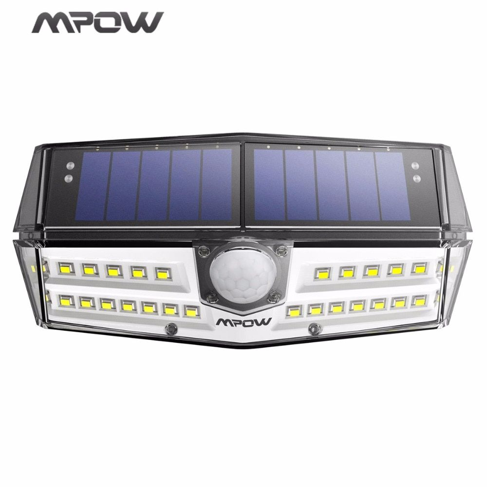 MPOW 30 LED Garden Solar Light IP66 Waterproof Solar Lamp Wide Angle Solar Motion Sensor Light for Pathway/Garage/Swimming Pool