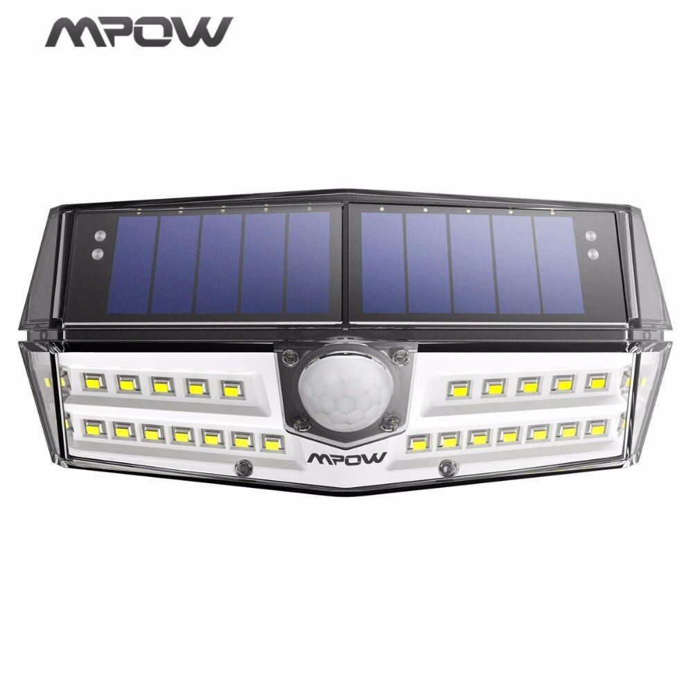 MPOW 30 LED <font><b>Garden</b></font> Solar Light IP66 Waterproof Solar Lamp Wide Angle Solar Motion Sensor Light for Pathway/Garage/Swimming Pool