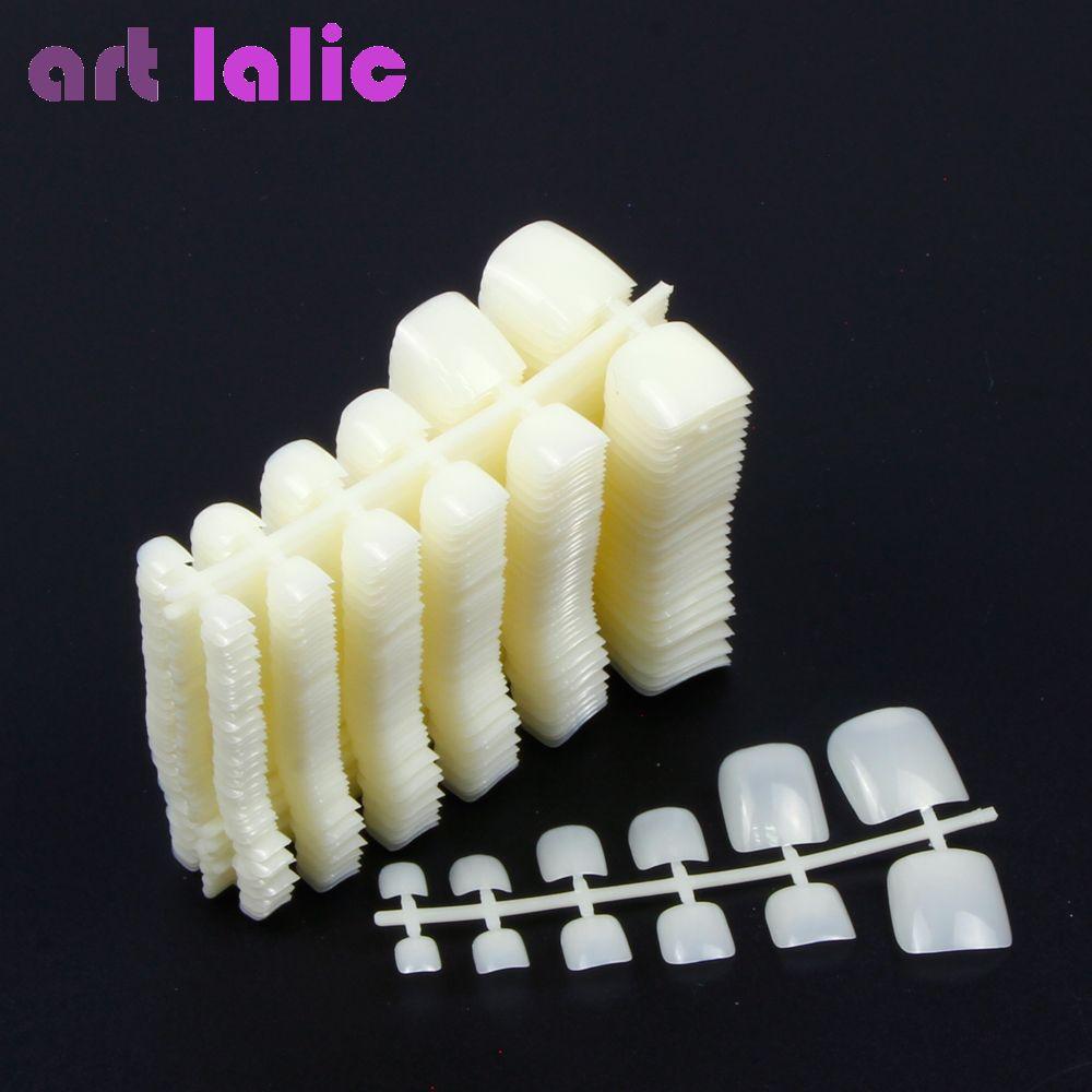 600 Stücke Nagel Tips Natürliche Acryl Falsche Gefälschte Künstliche Kappe Nägel Für Nail art Decor DIY Salon Werkzeuge