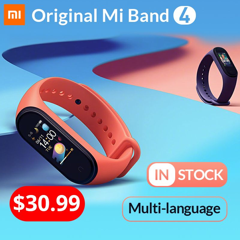 Xiaomi Mi Band 4 Global Original Smart Band4 Wristband Fitness Bracelet Music Bracelet Bluetooth 5.0 AMOLED Color Touch Screen