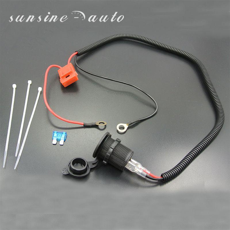 Sunsine Авто 12 В Водонепроницаемый мотоциклетные Авто-прикуриватели Мощность Plug розетка