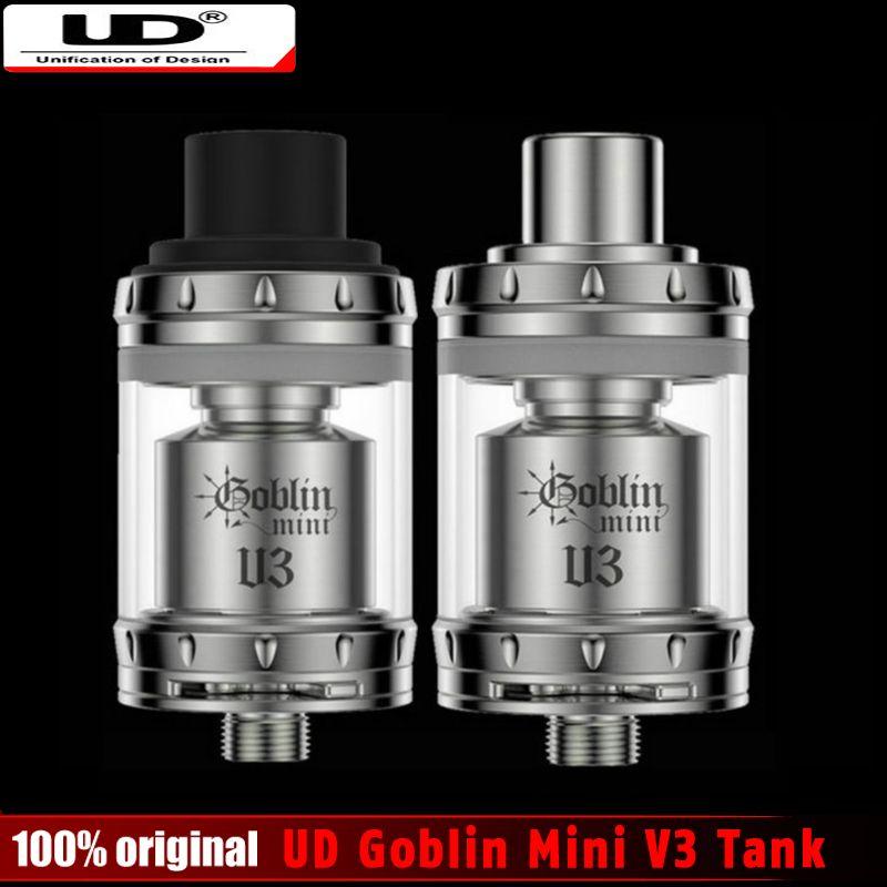 100% Original Youde UD Goblin Mini V3 RTA Tank 2 ml Geschwindigkeit Deck Silde Top Nachfüllen Zerstäuber mit Erweiterte Luftstrom System