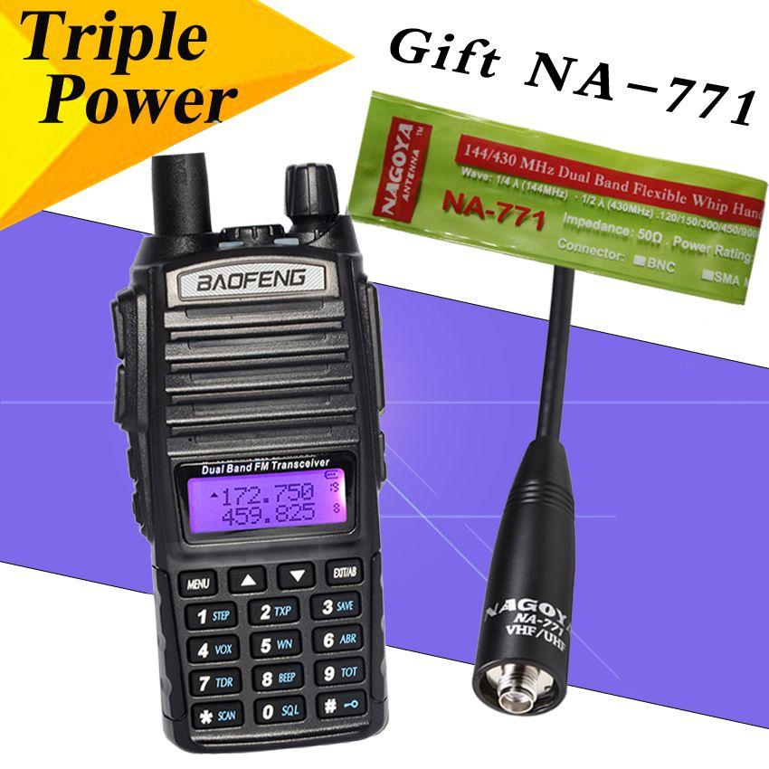 Baofeng BF UV82 Talkie-walkie 8 W Radio UV82HX Portable Radio Bidirectionnelle Radio FM Émetteur-Récepteur Bi-bande Longue Portée UV-82 px-888k