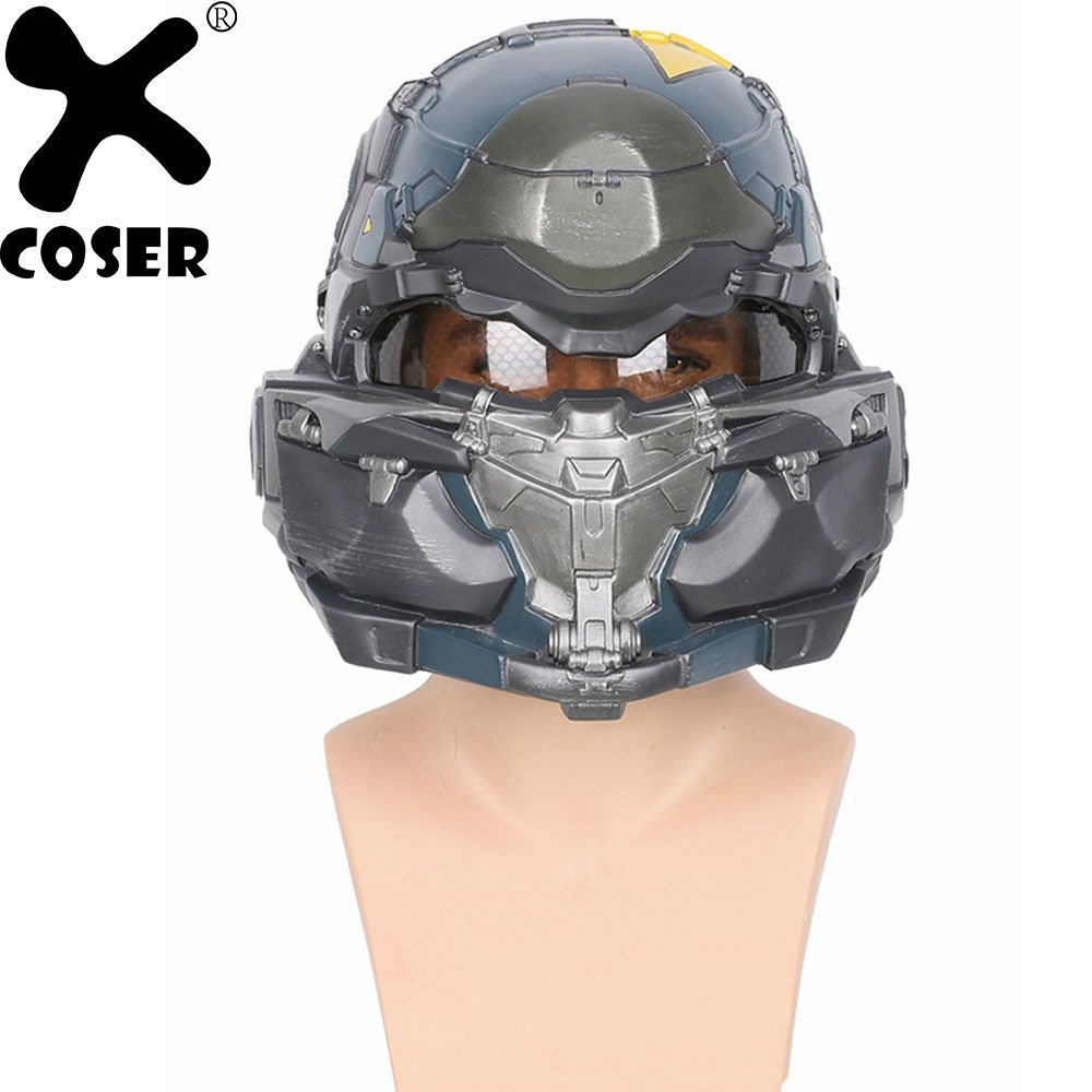 XCOSER Halo 5 Guardians Spartan Helmet Game Cosplay Helmet High Quality Resin Full Head Mask Helmets Cosplay Props Accessories