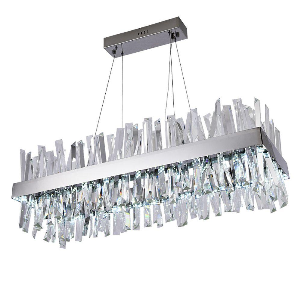 Luxus design moderne kristall kronleuchter LED licht AC110V 220 V lustre cristal chrom esszimmer wohnzimmer lampe