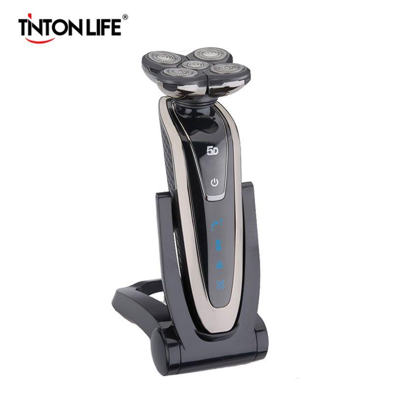 TINTON VIDA 5 Cuchilla Afeitadora Eléctrica de Afeitar la Barba de Afeitar Eléctrica Recargable Lavable Máquina de Afeitar Eléctrica de Afeitar Para Hombres