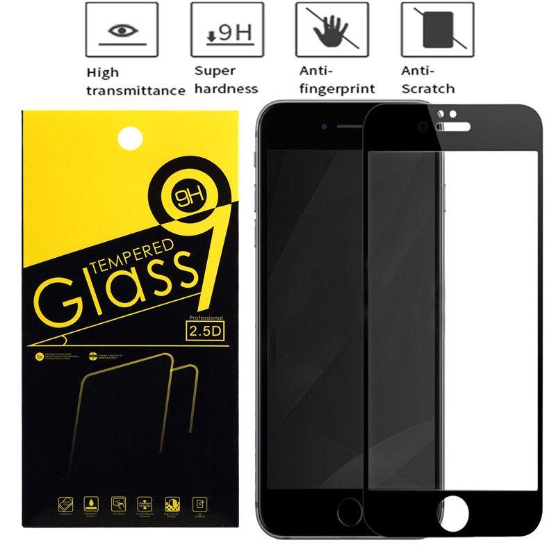 Белый/черный для iPhone 6 6 S 7 4.7 ''Премиум полный охват закаленное Стекло для 6 6 S 7 Plus 5.5