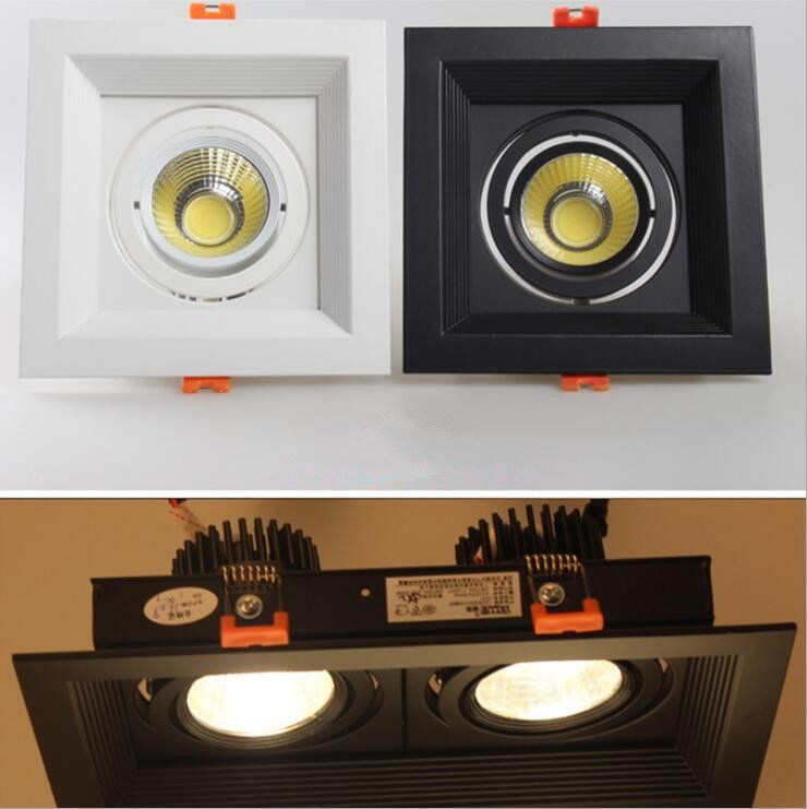 1 pcs 10 w 20 w 30 w 110 v 220 v LED DIMMABLE Plafonnier Encastré LED Mur lampe lumière de tache Avec Le Conducteur MENÉ Pour L'éclairage À La Maison