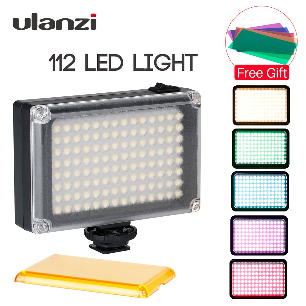 Ulanzi 112 LED Dimmable Video Light Rechargable Panal Light (White & Warm Light) for DSLR Camera Videolight Wedding Recording