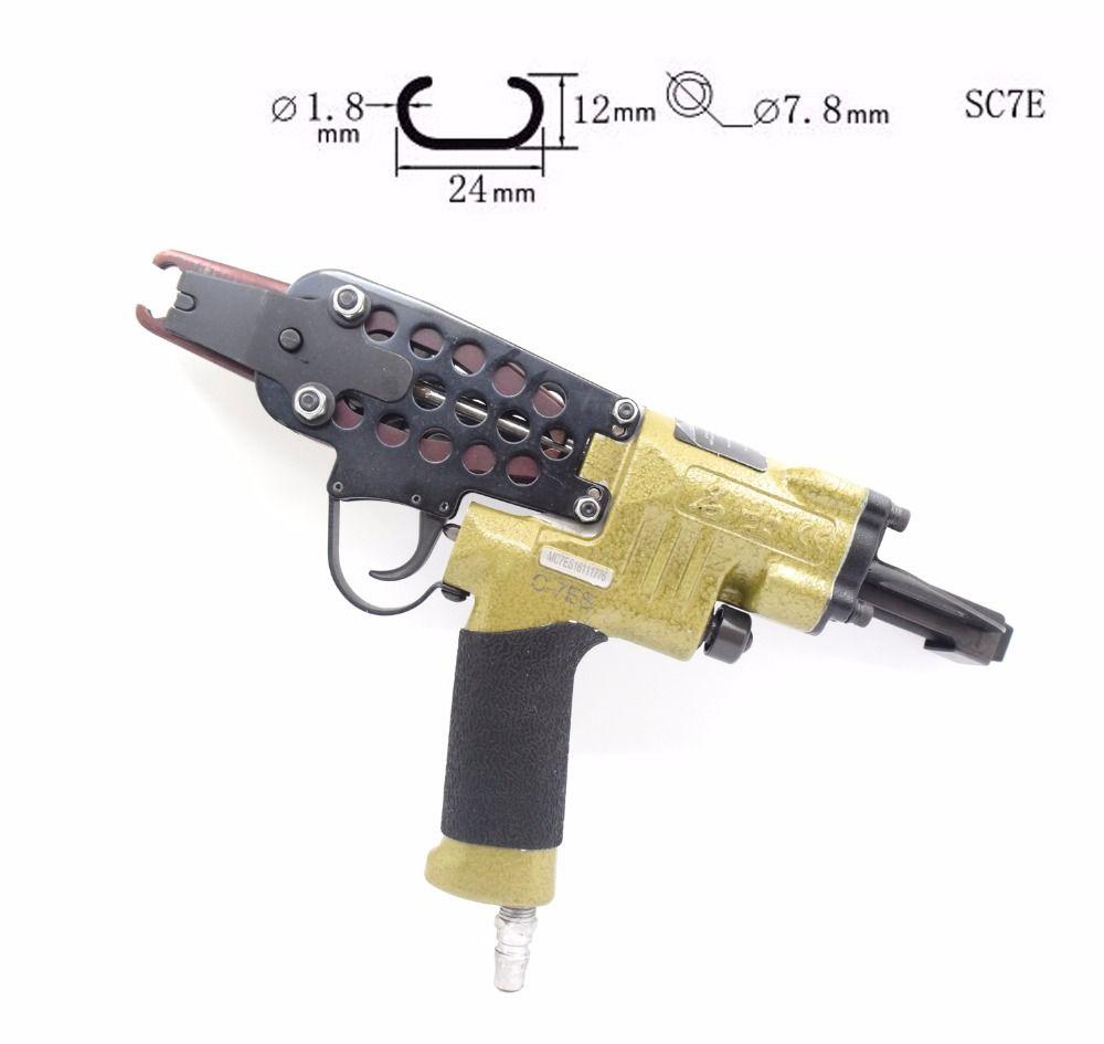 Pneumatische Luft Werkzeuge C-Ring NAGLER Hog Ring Zange Geflügel Käfig Coop Draht Binden Krawatte Up SC7E Air nagel pistole C Nagler Original qualität
