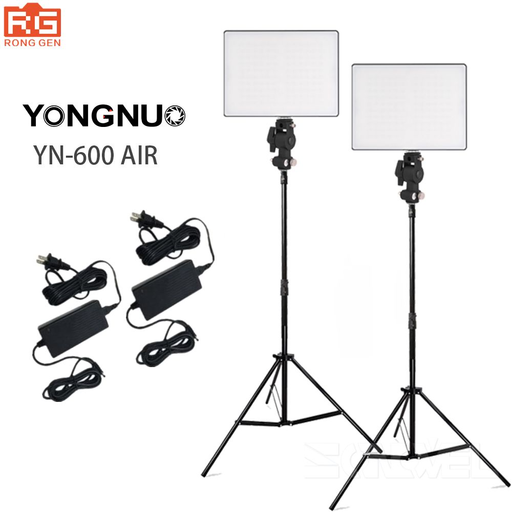 YONGNUO YN600 Air LED Camera Video Photography Lights 3200K-5500K Kit for Canon Nikon Pentax Olympas Samsung DSLR & Camcorder