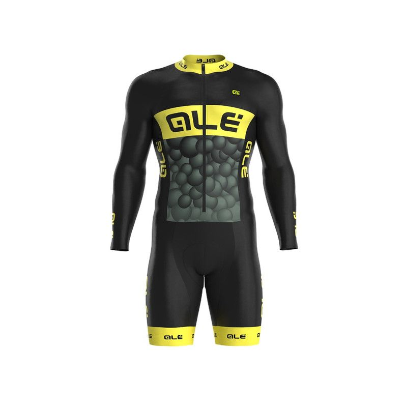2018 ALE Summer Team Cycling Jerseys Long Sleeves Cycling Skinsuit Set Triathlon Ropa Ciclismo Cycling Jumpsuit Clothing Lycra