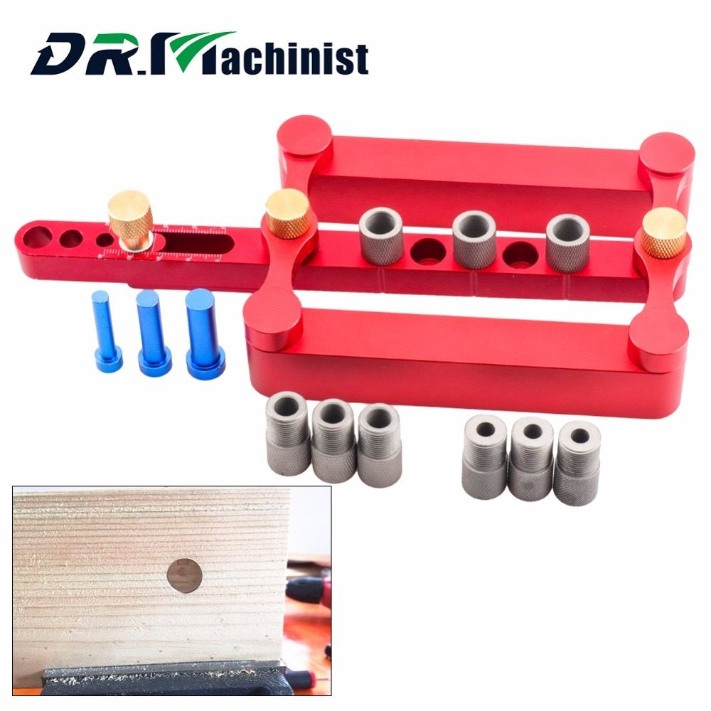 Ultimate Self Centering Doweling Jig Set Metric Dowel Drilling Tools 3 in 1 Punch Locator Power Woodworking Joinery Hand Tool