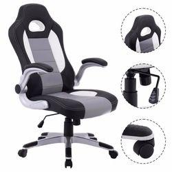 Goplus 2018 pu cuero ejecutivo estilo de carreras asiento ergonómico ordenador silla sillón giratorio Muebles cb10070
