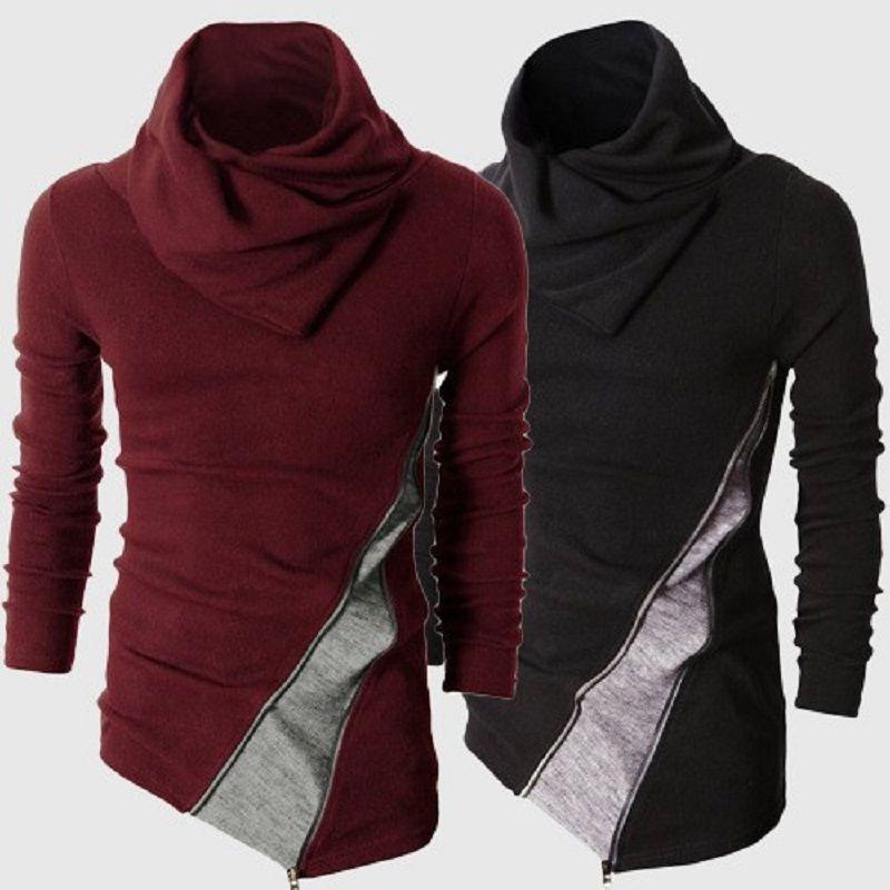 2019 automne hiver pull à col roulé hommes décontracté chandail tricoté mâle à manches longues Slim Fit pull Masculina hauts 2XL
