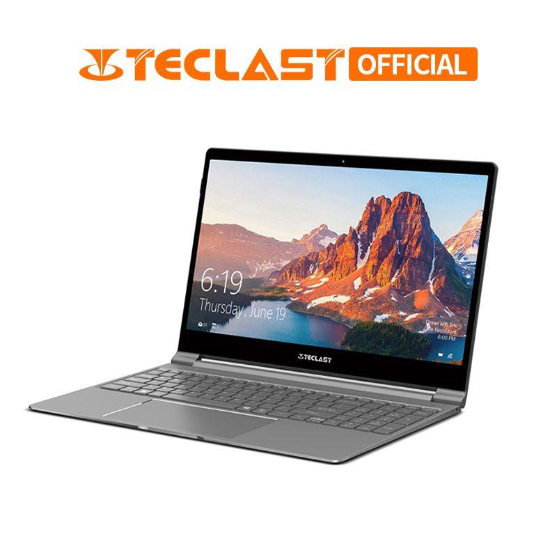 Ultra-thinTeclast F15 Notebook 15,6 Windows 10 Home 8 GB RAM 256 GB SSD HDMI Laptop Gemini See Intel n4100 Quad Core 6000 mAh