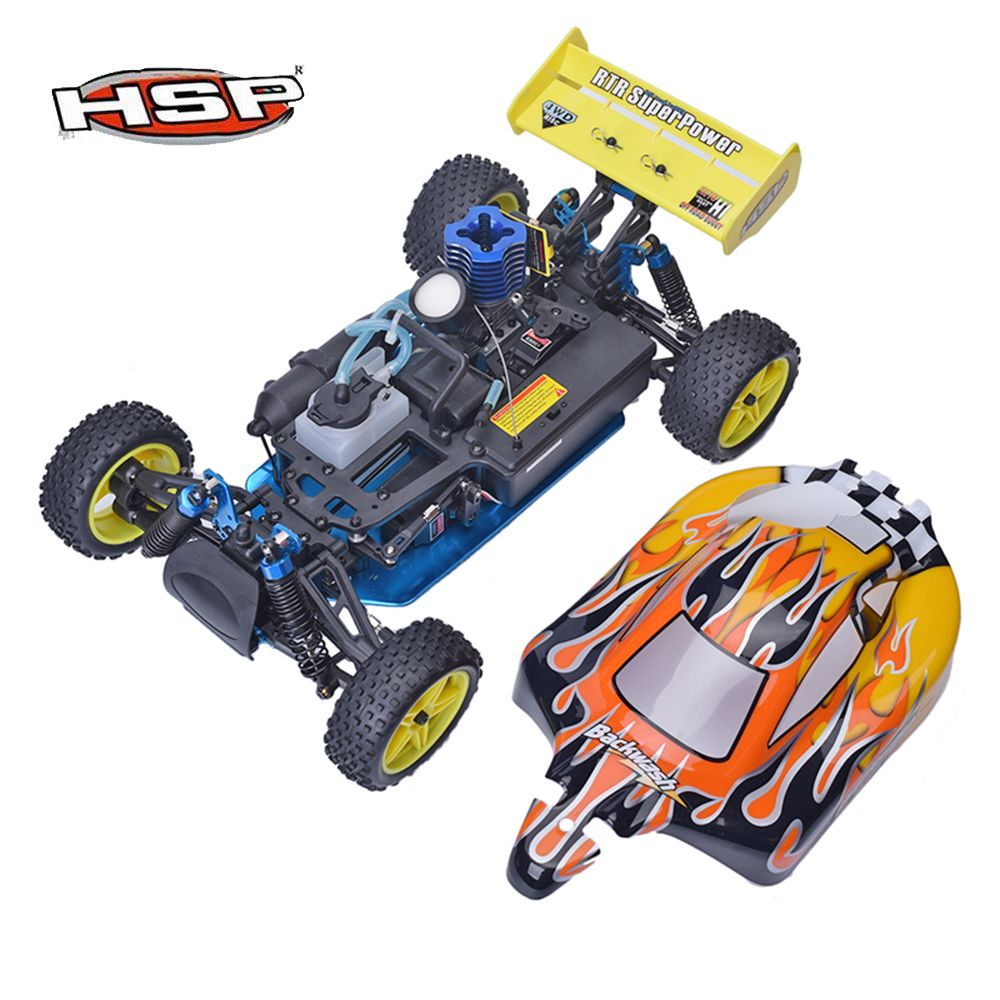 HSP 94166 1:10 Nitro Gas Powered RC Racing Car Backwash Two Speed Off Road Buggy High Speed Drift Remote Control Car Boy Toys