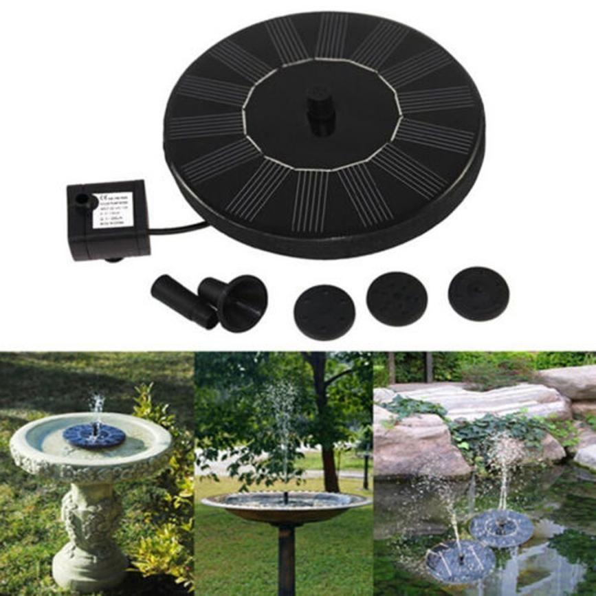 Outdoor Solar Powered Bird Bath Water Fountain Pump For <font><b>Pool</b></font> Garden Aquarium Water Pumps