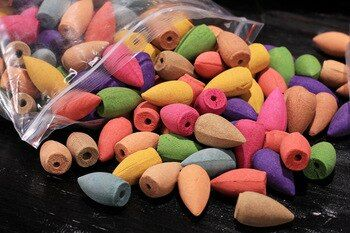 70 pcs/bag Hollow Backflow Incense Natural Rose Lavender Sandalwood Incense Cones