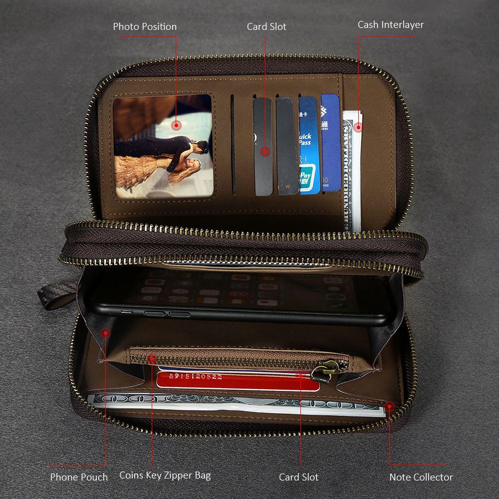 FLOVEME Universal Leather Wallet Case For iPhone 6 6S 7 Plus 5 5S SE For Samsung Galaxy S8 S8 Plus S5 S6 S7 Edge Case Cover Bag