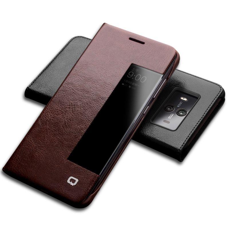 QIALINO Luxus Echtem Leder Telefonkasten für Huawei Kollege 10 schlaf Wake Funktion Smart Ultradünnen Schlag-abdeckung für Mate10 pro