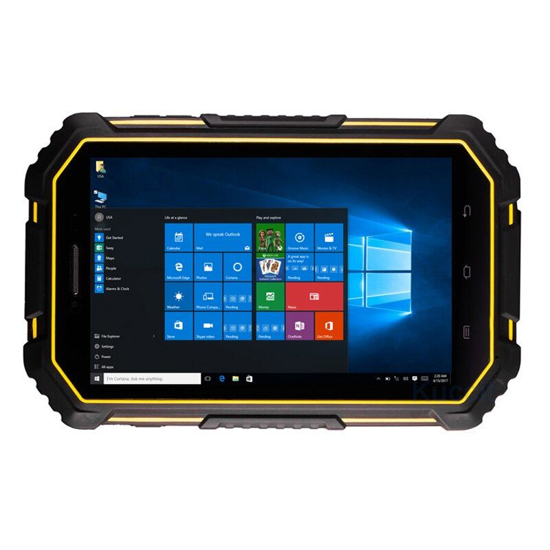 2018 Industrial Rugged Tablet PC Windows 10 Android Dual OS Handheld Computer 7