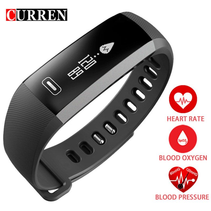 CURREN R5 PRO Smart <font><b>wrist</b></font> Band Heart rate Blood Pressure Oxygen Oximeter Sport Bracelet Watch intelligent For iOS Android