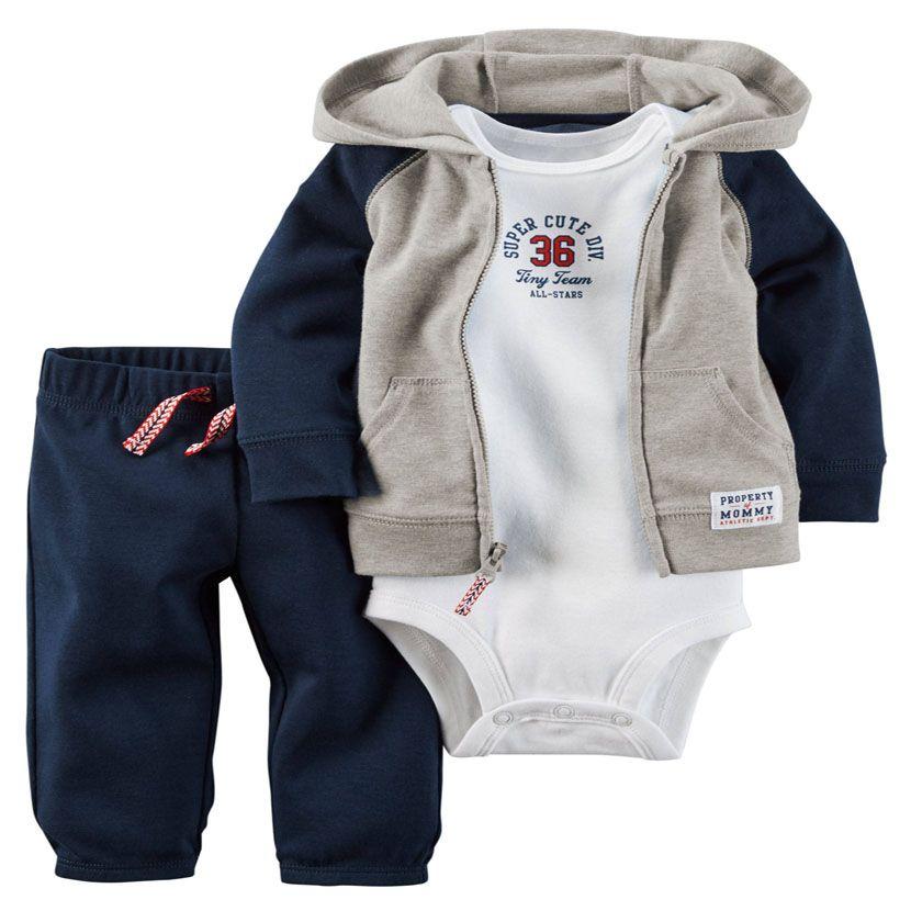 kids sweat suit Baby bebes Boys Girls clothes set ,caca kids Model Cardigan+Bodysuit+Pants 3pcs/Set, Baby infant Clothing Set