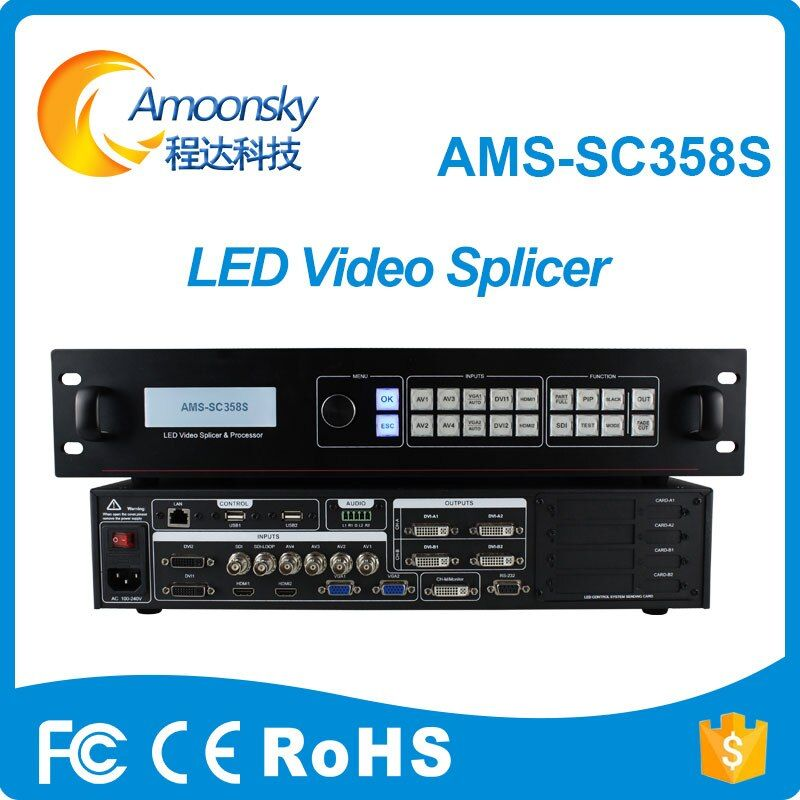 5.3 million piexl customized resolution sc358S definition dual core video processor 4k led billboard splicing processor