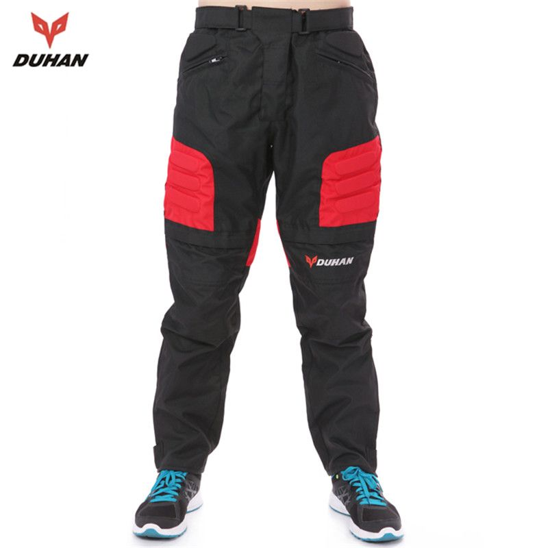 DUHAN Men's Motorcycle Pants Riding Trousers Motocross Off-Road Racing Pants Sports Knee Protective Pants