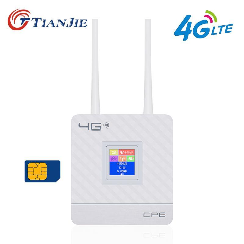 TIANJIE CPE903 3g 4g LTE wifi router WAN/LAN Port Dual externe antennen Entriegelt wireless CPE router mit Sim Karte Slot