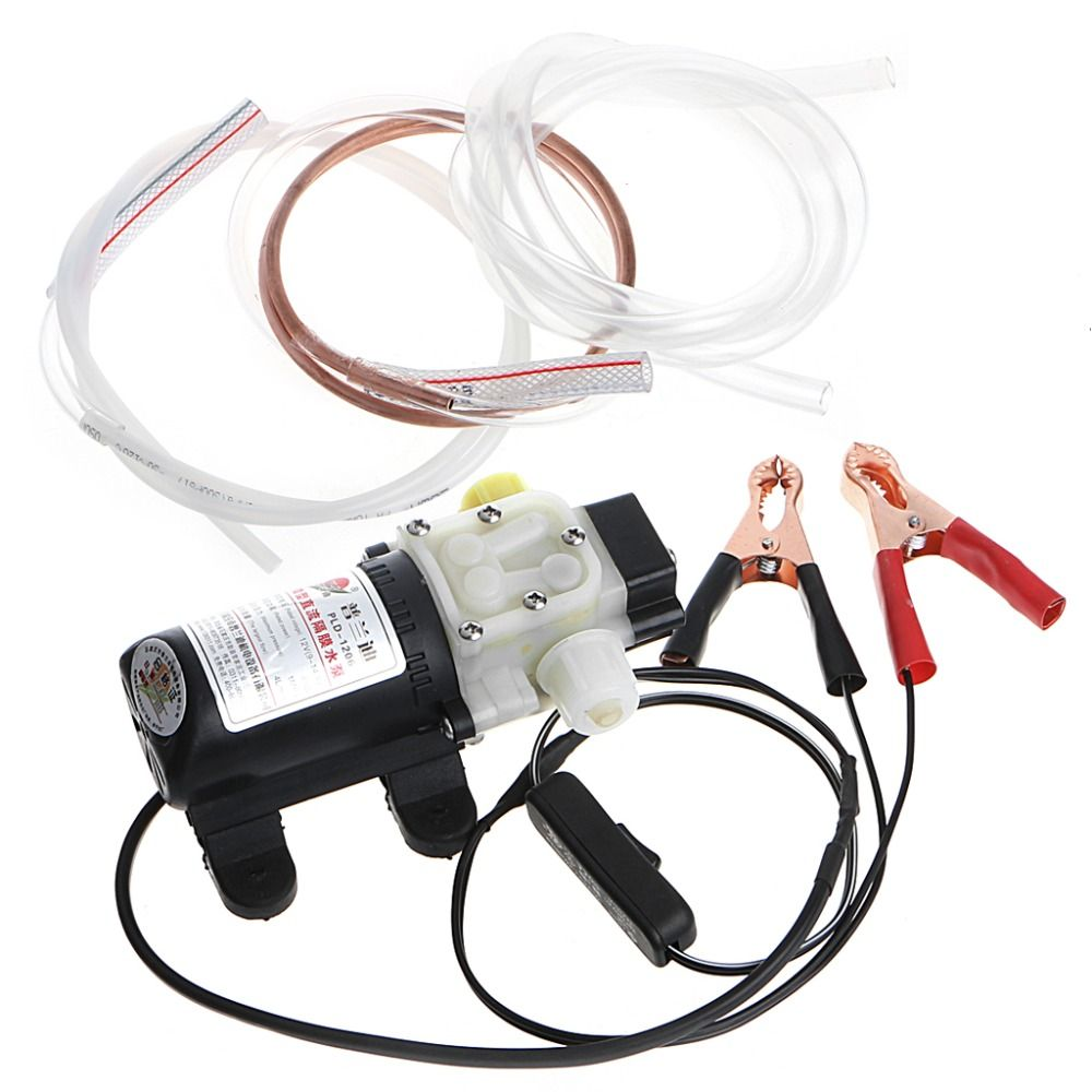 Free delivery Car Electric Oil Diesel Fuel Extractor Transfer Pump With Crocodie Clip Pumps 12V 45W High Pressure