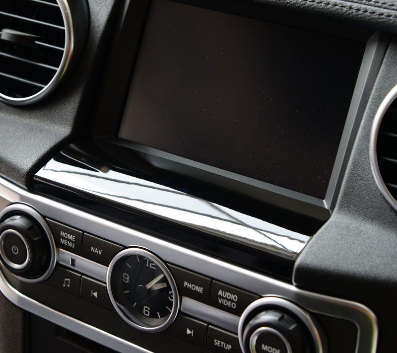 Для Land Rover Discovery 4 автомобиль-Стайлинг ABS Chrome GPS Экран ниже Панель крышка отделка Наклейки Интимные аксессуары