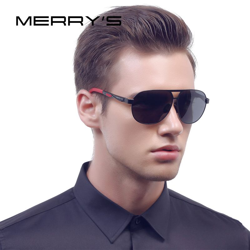 MERRY'S Men Classic Brand Sunglasses HD Polarized Aluminum Sun glasses EMI Defending Coating Lens <font><b>Driving</b></font> Shades S'8611