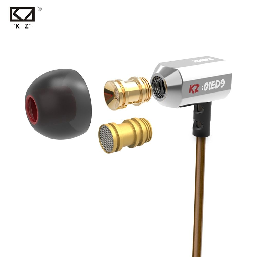Original KZ ED9 Super Bass In Ear Music Earphone With DJ Earphones HIFI Stereo Earbuds <font><b>Noise</b></font> Isolating Sport Earphones With Mic