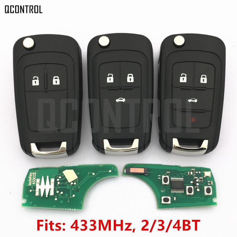QCONTROL 2/3/4 Boutons De Voiture À Distance Clé DIY pour OPEL/VAUXHALL 433 MHz pour Astra J Corsa E Insignia Zafira C 2009-2016
