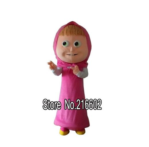Masha Mascot Costume Cartoon Character Mascotte Free Shipping