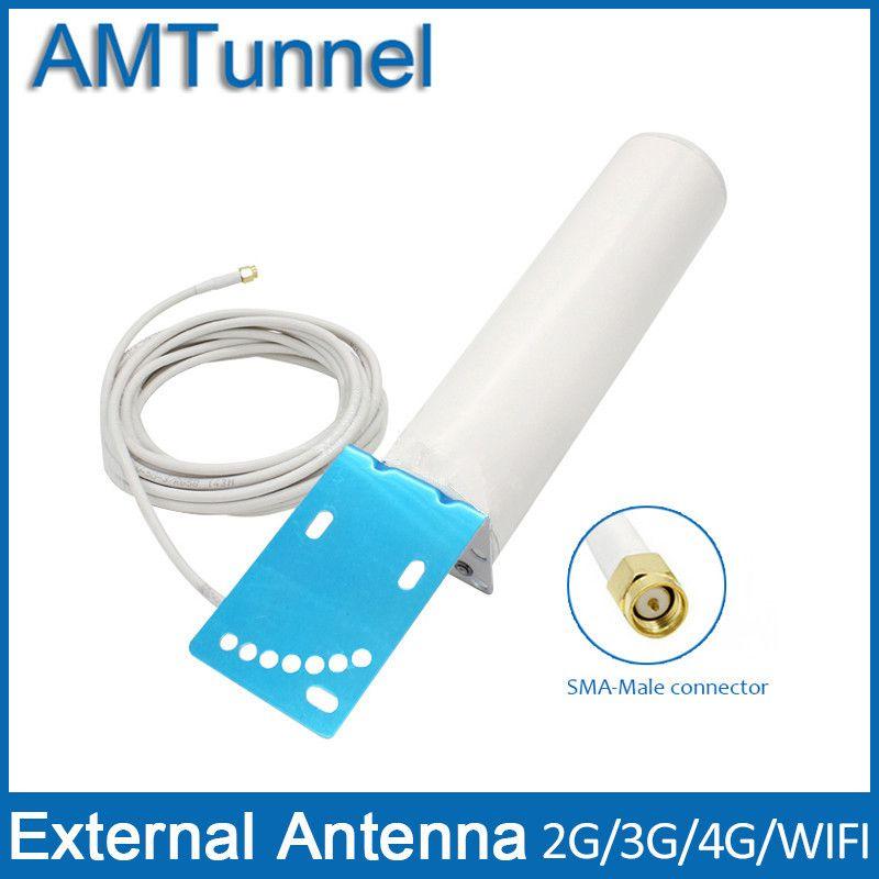 4g Modem Antenne 4G LTE Antenne 12dBi 3G Antenne booster WIFI antenne mit 5 mt kabel und sma-stecker für repeater router 4g modem