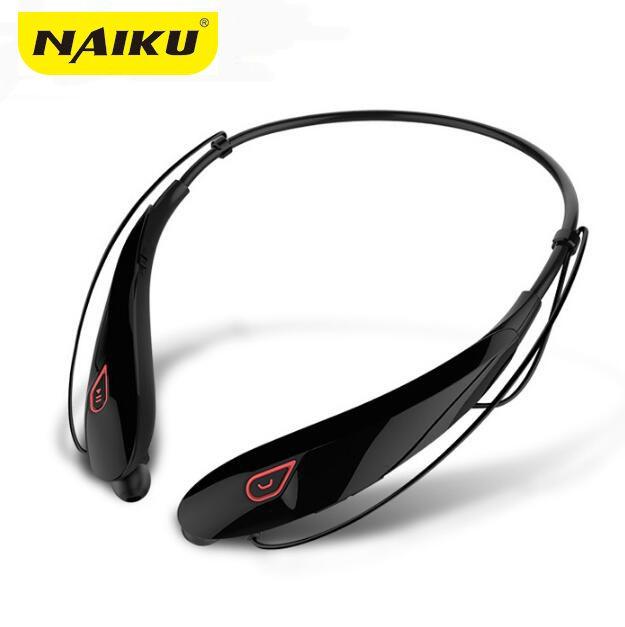 NAIKU nouveau casque stéréo sans fil Bluetooth casque de musique Sport Bluetooth écouteur mains libres dans l'oreille écouteurs MP3 médias jouer